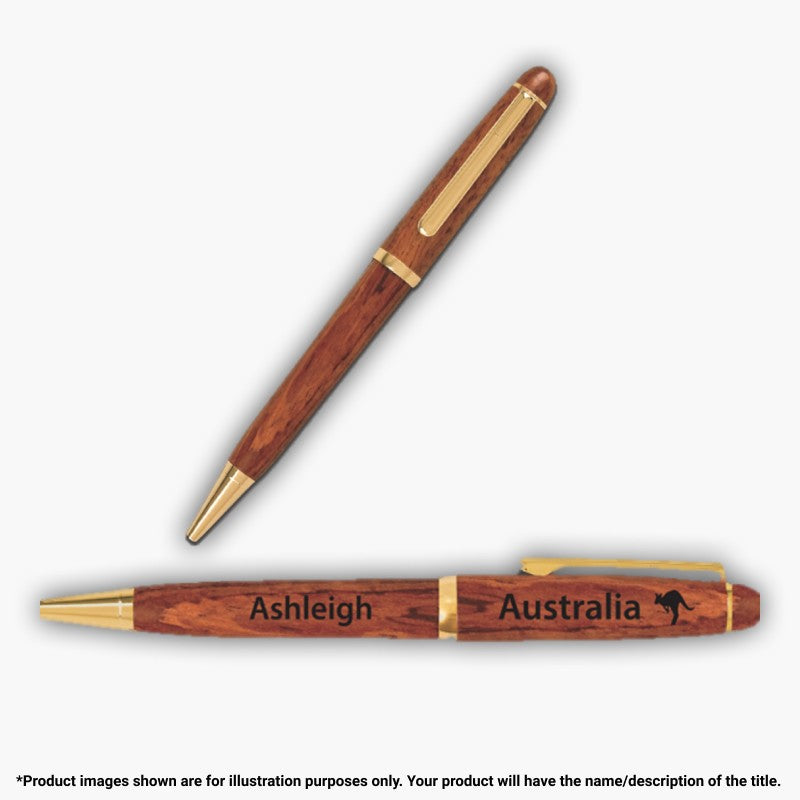 "PEN - KANGAROO AUSTRALIA PERSONALISED ""H TO M"""