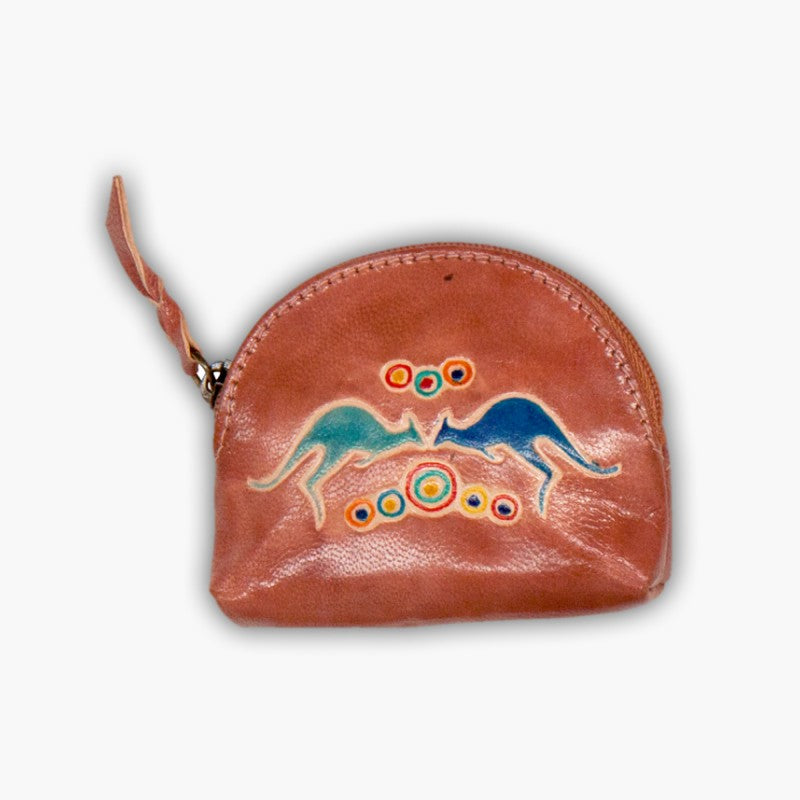 COIN BAG - LEATHER GALLERIA PURSE 7.5 X 6CM LP05.