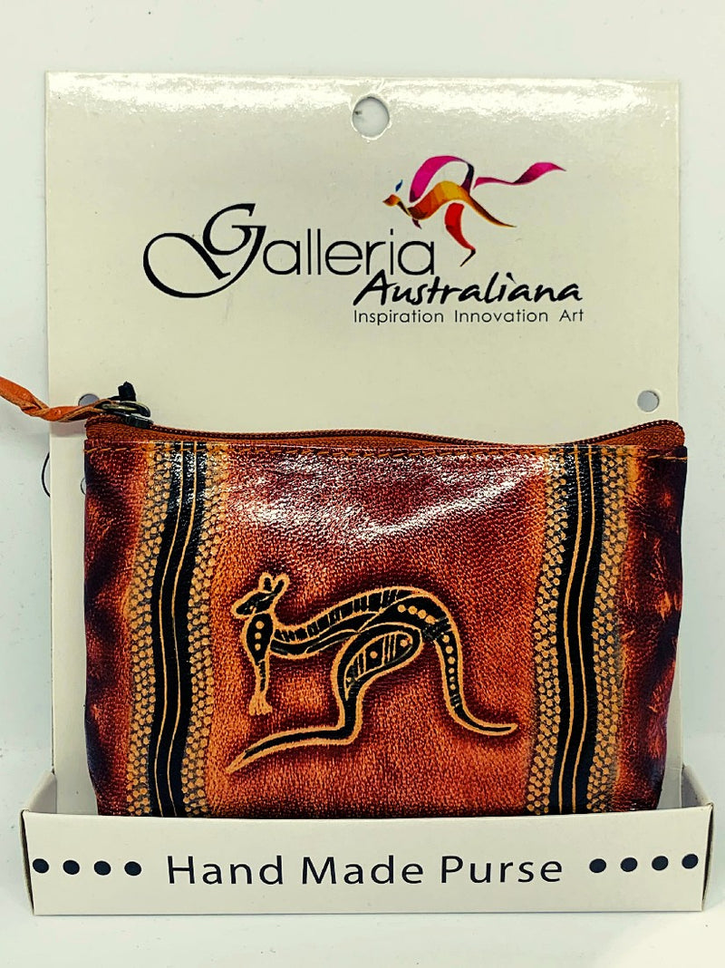 COIN BAG - LEATHER GALLERIA PURSE TIEDYE 13X9.5 LP08T.