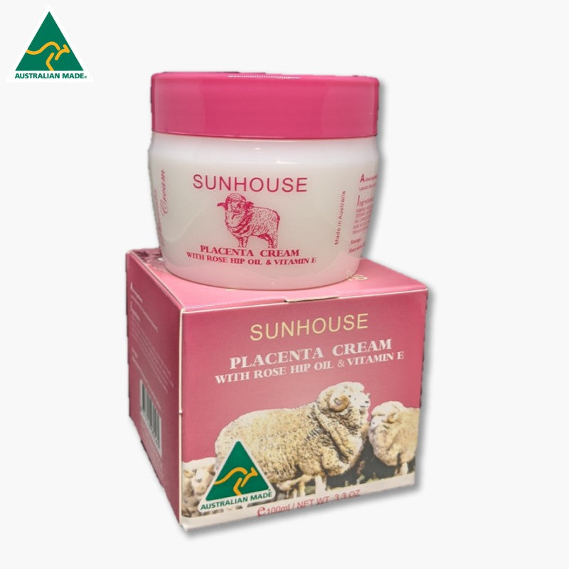 CREAM - PLACENTA WITH ROSE HIP AND VITAMIN E SUNHOUSE S107