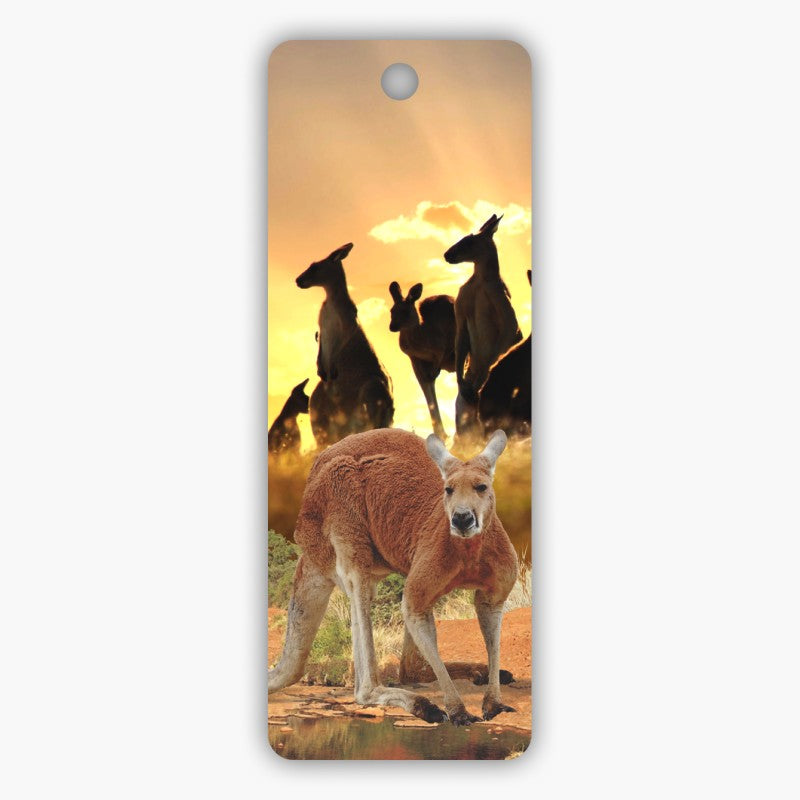 BOOKMARK - 3D RED ROOS AT SUNSET 51-44-2496.