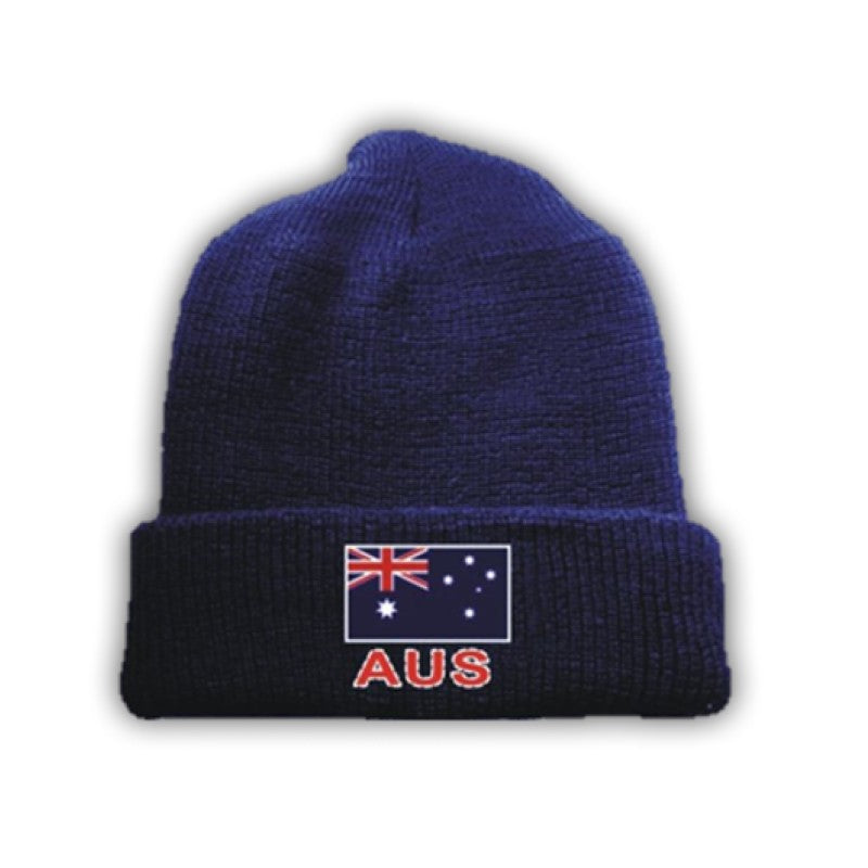 BEANIE - AUSTRALIAN FLAG BLUE BE/F.