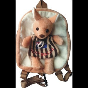 BACKPACK - KANGAROO AUSTRALIA FLAG BROWN SZB030