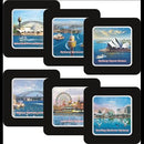 COASTER - BLACK FRAME SYDNEY HARBOUR 6PCS C/M/102.
