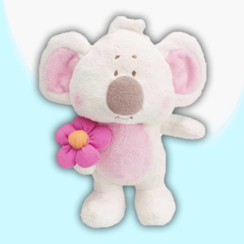 KOALA - 16CM WHITE WITH FLOWER 600108.