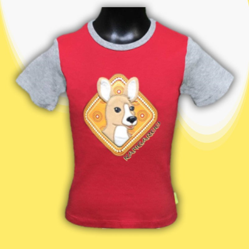 T/SHIRT - 3D KANGAROO RED
