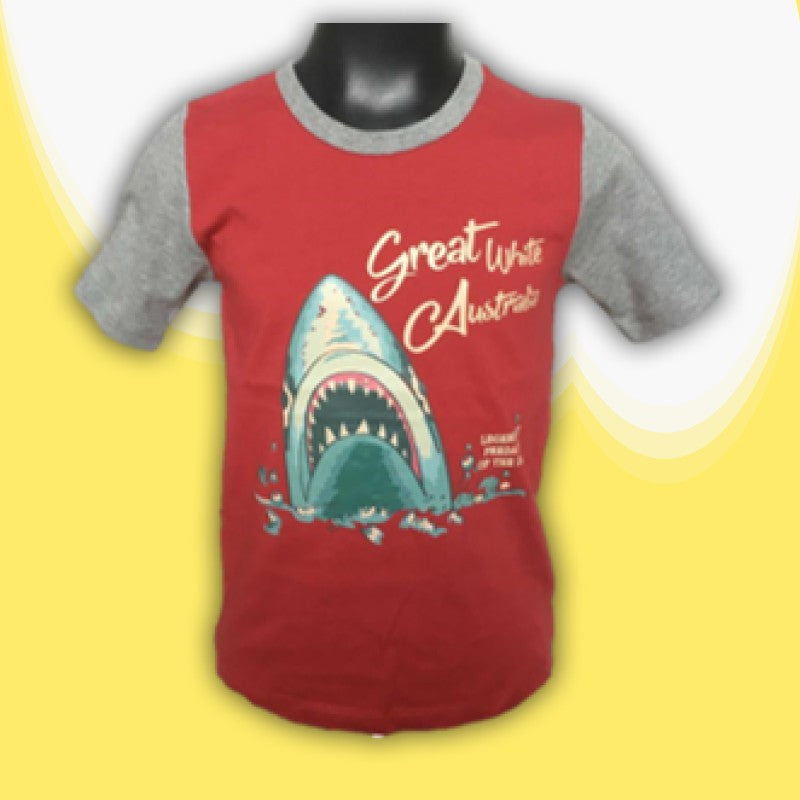 T/SHIRT - GREAT WHITE SHARK RED