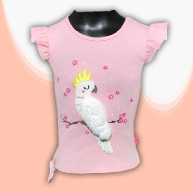 T/SHIRT - 3D COCKATOO PINK