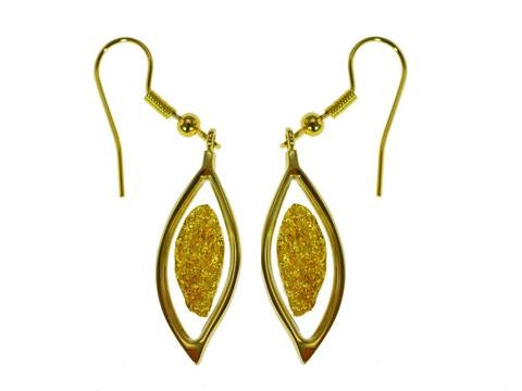 GOLD - EARRING LEAF ON HOOK GP150112.