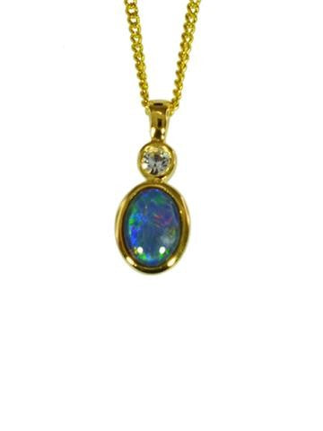 OPAL - TRIPLET PENDANT BOXED ORD2046.