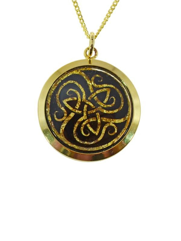 GOLD - GP250125 TRINITY CELTIC KNOT PENDANT.