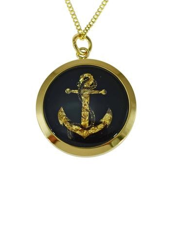 GOLD - GP250135 PENDANT SMALL ANCHOR.