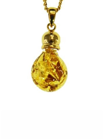 GOLD - GLASS BULB SHAPE PENDANT GP200020.