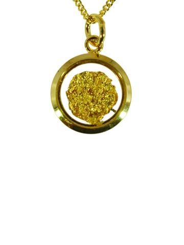 GOLD - PENDANT SMALL ROUND GP250101.