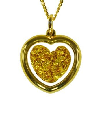GOLD - PENDANT HEART GP250105.