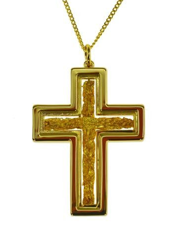 GOLD - PENDANT CROSS GP250106.