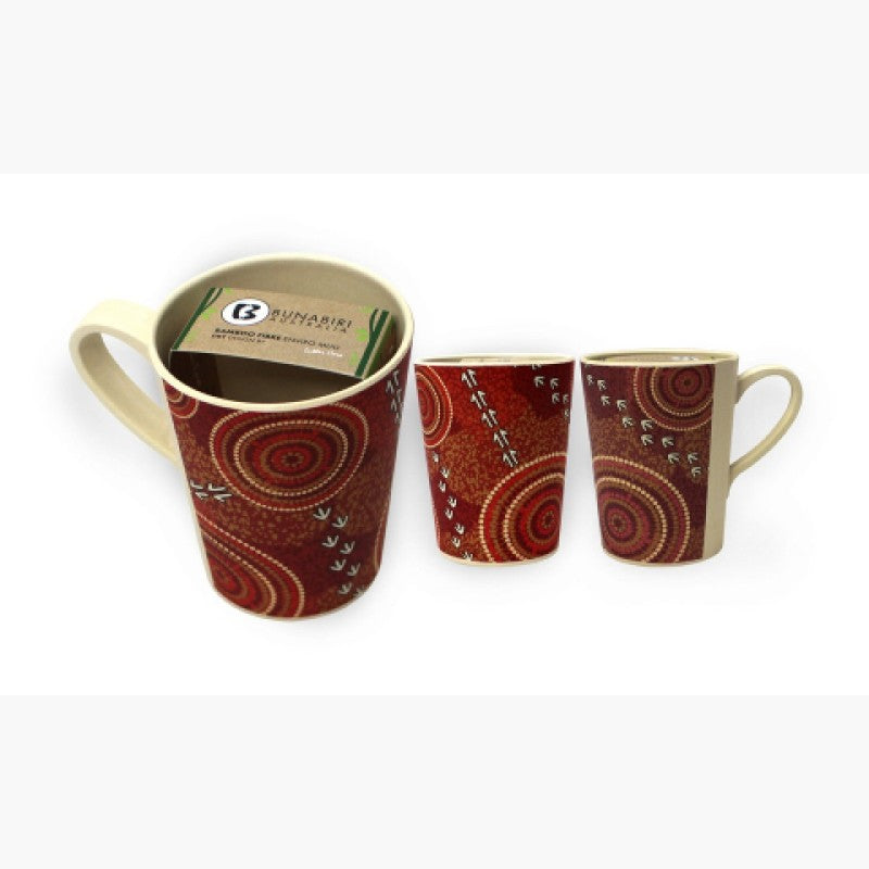 MUG - BAMBOO LUTHER CORA DRY RED B501A.