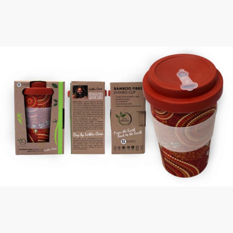 TRAVEL MUG - BAMBOO LUTHER CORA DRY RED B509A.