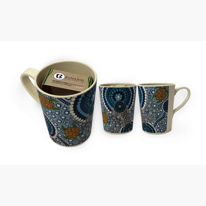 MUG - BAMBOO COLIN JONES COLS SEA BLUE B517A.