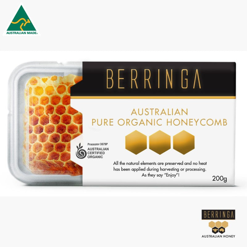 HONEY - BERRINGA ORGANIC HONEYCOMB 200G S069