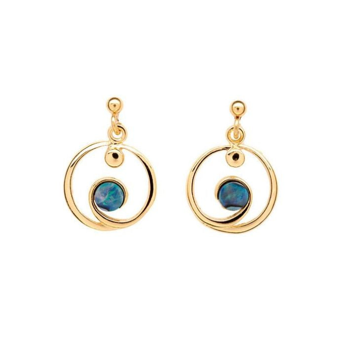 PAUA - EARRINGS GOLD PLATED ETERNITY PE490.