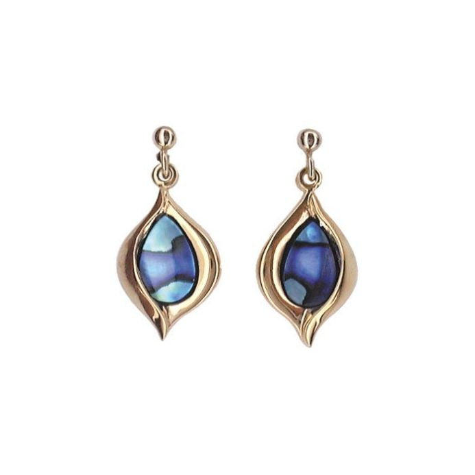 PAUA - EARRING GOLD PLATED CROCUS PE277.