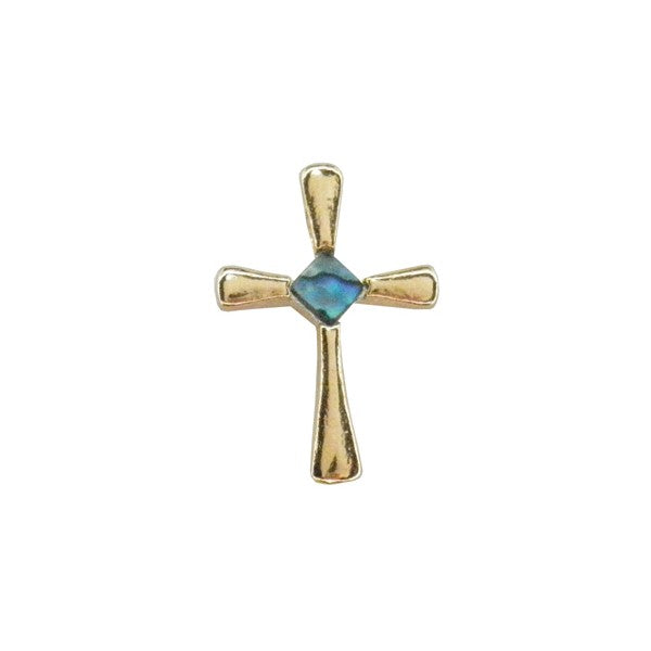 PAUA - PENDANT GOLD PLATED SMALL CROSS GP821.