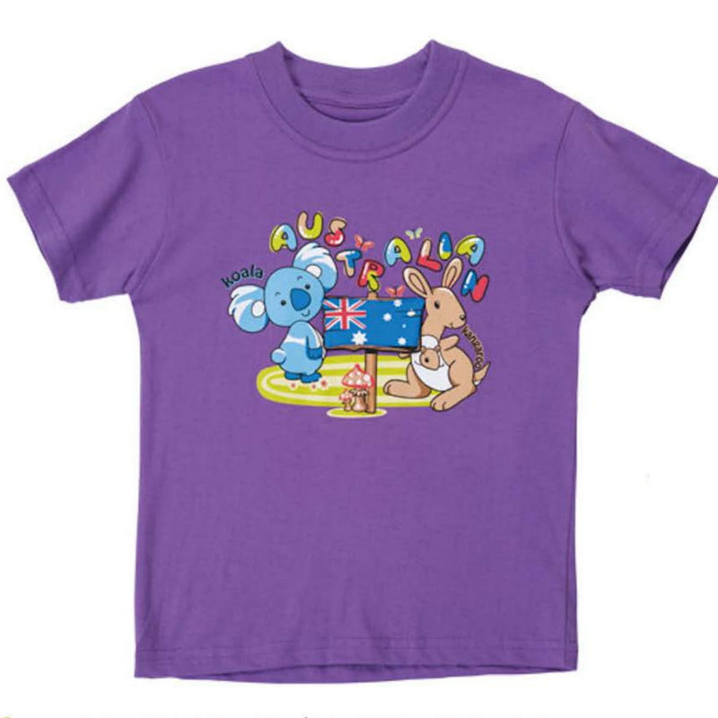 T/SHIRT - G-PTKF852-LAVENDER KID FLAPPY WE ARE FAMILY