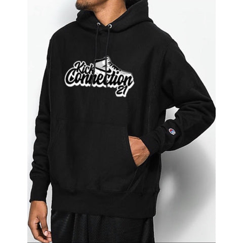 Black Kickconnection21 Hoodie with Black Logo