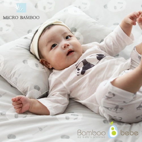 Bamboo Baby Bedding 3pcs Set [Windy Gray] - Babyhouse Australia