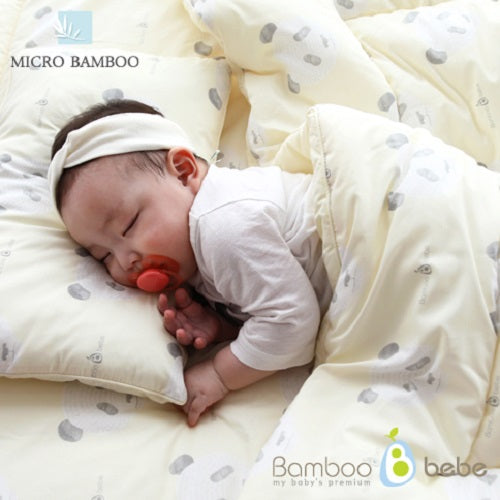 Bamboo Baby Bedding 3pcs Set [Lemon Yellow] - Babyhouse Australia