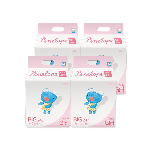 Penelope Thin Thin Thin Plus Nappy Pants BIG [13kg+][Girl][24pcs x 4pack] - Babyhouse Australia