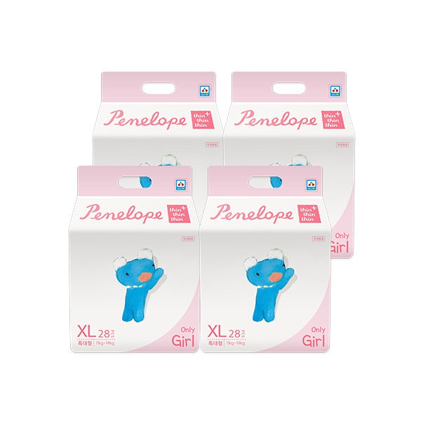 Penelope Thin Thin Thin Plus Nappy Pants XL [11kg~14kg][Girl][28pcs x 4pack] - Babyhouse Australia