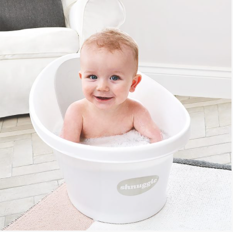 Shnuggle Baby Bath With Plug & Foam Backrest - Babyhouse Australia
