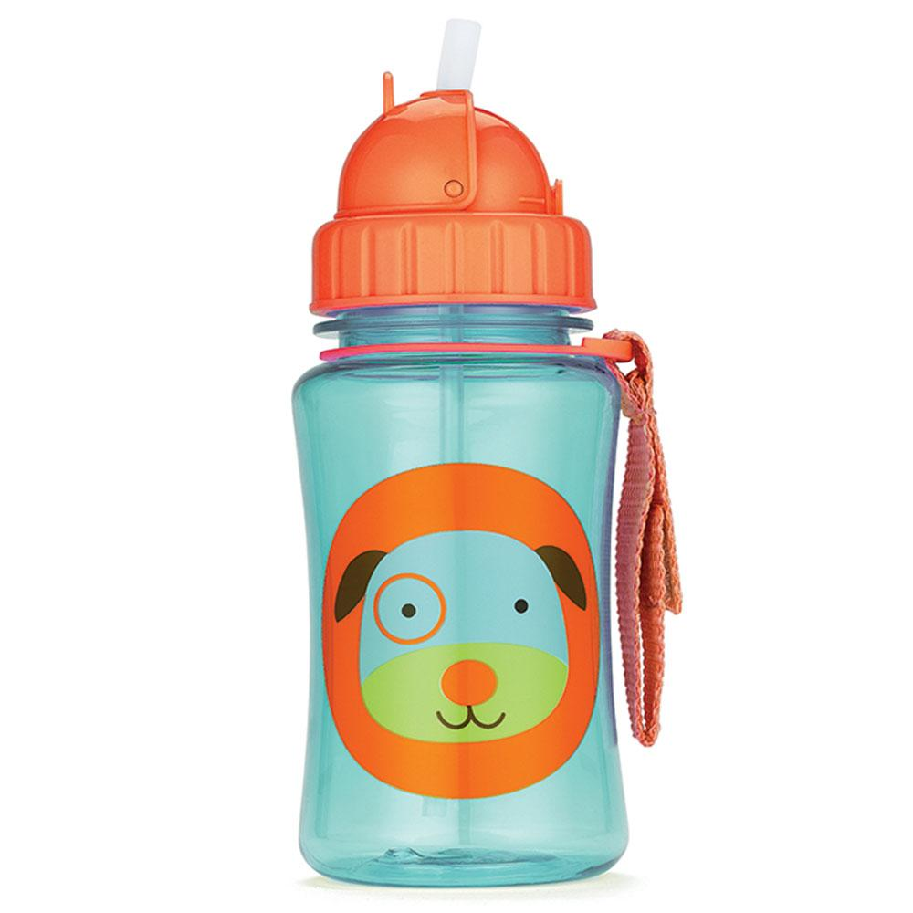 SKIP HOP DARBY DOG ZOO STRAW BOTTLE - Babyhouse Australia