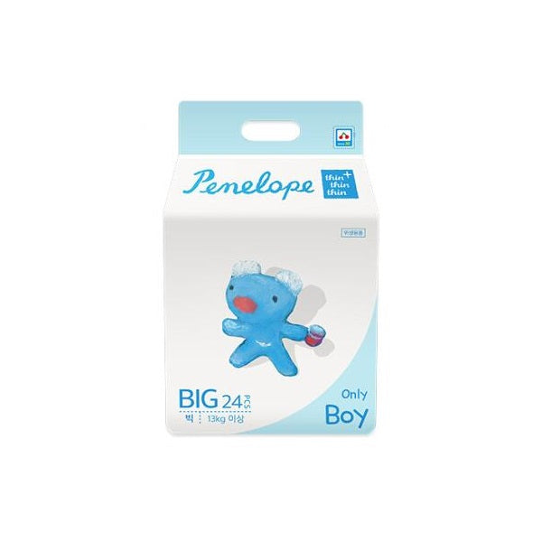 Penelope Thin Thin Thin Plus Nappy Pants BIG [13kg+][Boy][24pcs x 1pack] - Babyhouse Australia