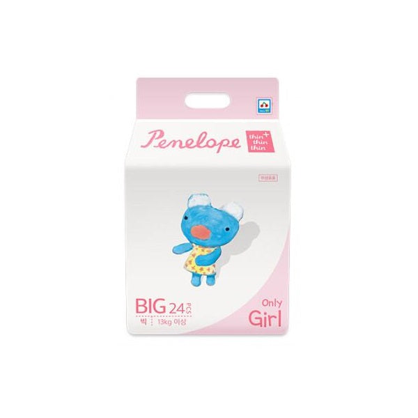 Penelope Thin Thin Thin Plus Nappy Pants BIG [13kg+][Girl][24pcs x 1pack] - Babyhouse Australia