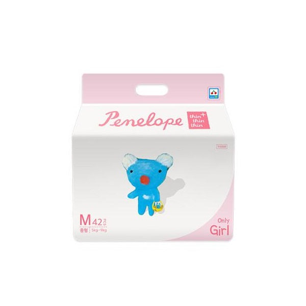 Penelope Thin Thin Thin Plus Nappy Pants M [5kg~9kg][Girl][42pcs x 1pack] - Babyhouse Australia