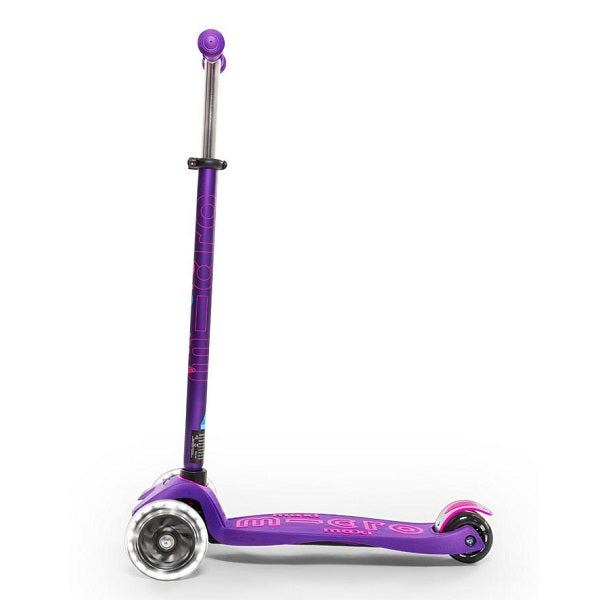 Maxi Micro Deluxe Led Scooter - Purple - Babyhouse Australia