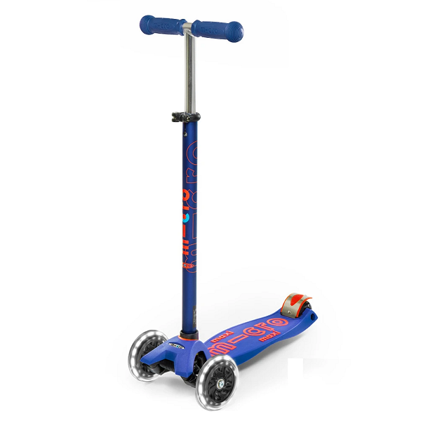 Maxi Micro Deluxe Led Scooter - Blue - Babyhouse Australia