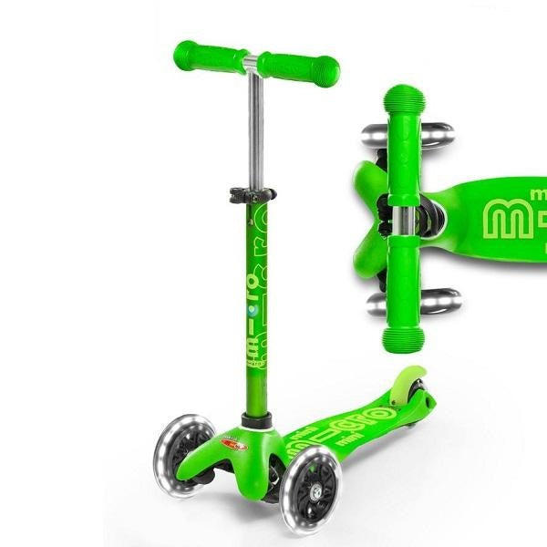 Mini Micro Deluxe Led Scooter - Green - Babyhouse Australia