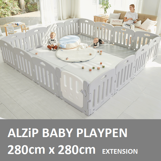 ALZIP BABY Playpen EXTENSION 16P XG2[280cmx280cm][USE OF 2 MAT SIZE XG] - Babyhouse Australia