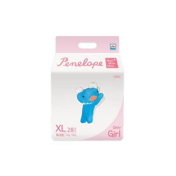 Penelope Thin Thin Thin Plus Nappy Pants XL [11kg~14kg][Girl][28pcs x 1pack] - Babyhouse Australia