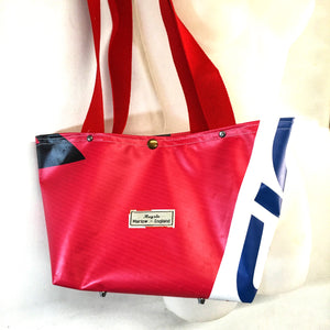 Upcycled Vinyl Banner Shopper