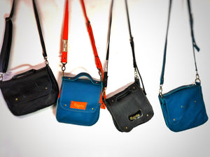 Raw Leather Satchel choose your colour (small)