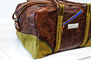 Leather Holdall - medium
