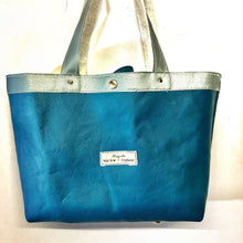 Load image into Gallery viewer, Upcycled Leather Tote Shopper