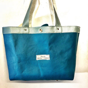 Upcycled Leather Tote Shopper