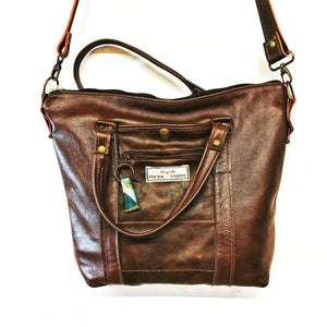 Bespoke leather shoulder bag
