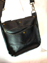 Load image into Gallery viewer, Raw Leather Satchel Small in Black